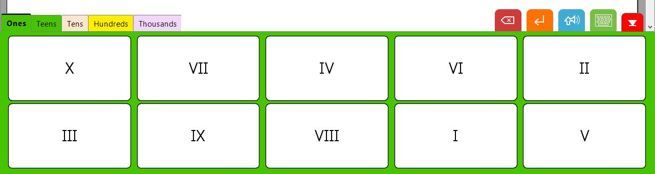 Clicker 7 Custom Set - Roman Numerals