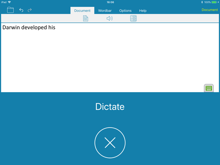 Dictate to DocsPlus for iPad