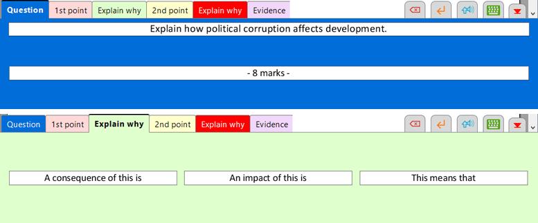 Structure support Wordbars