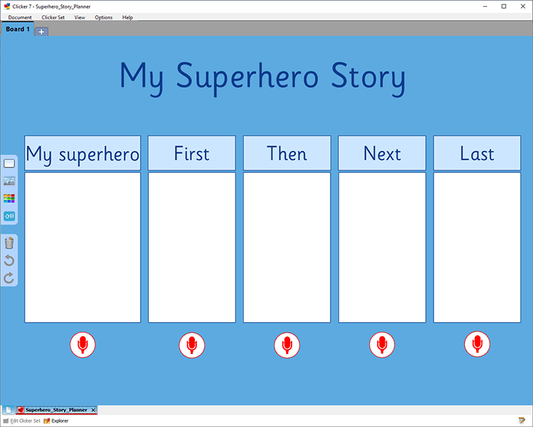 UK Superhero Storyboard