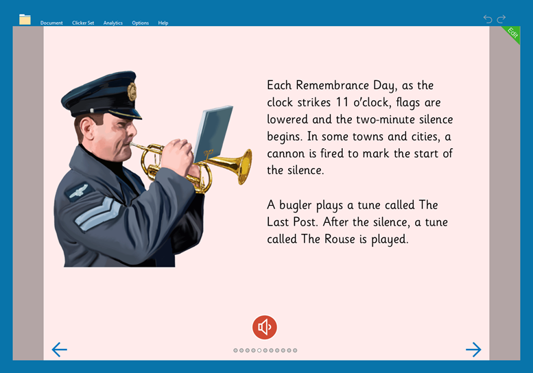 Understanding Remembrance Day - read a book