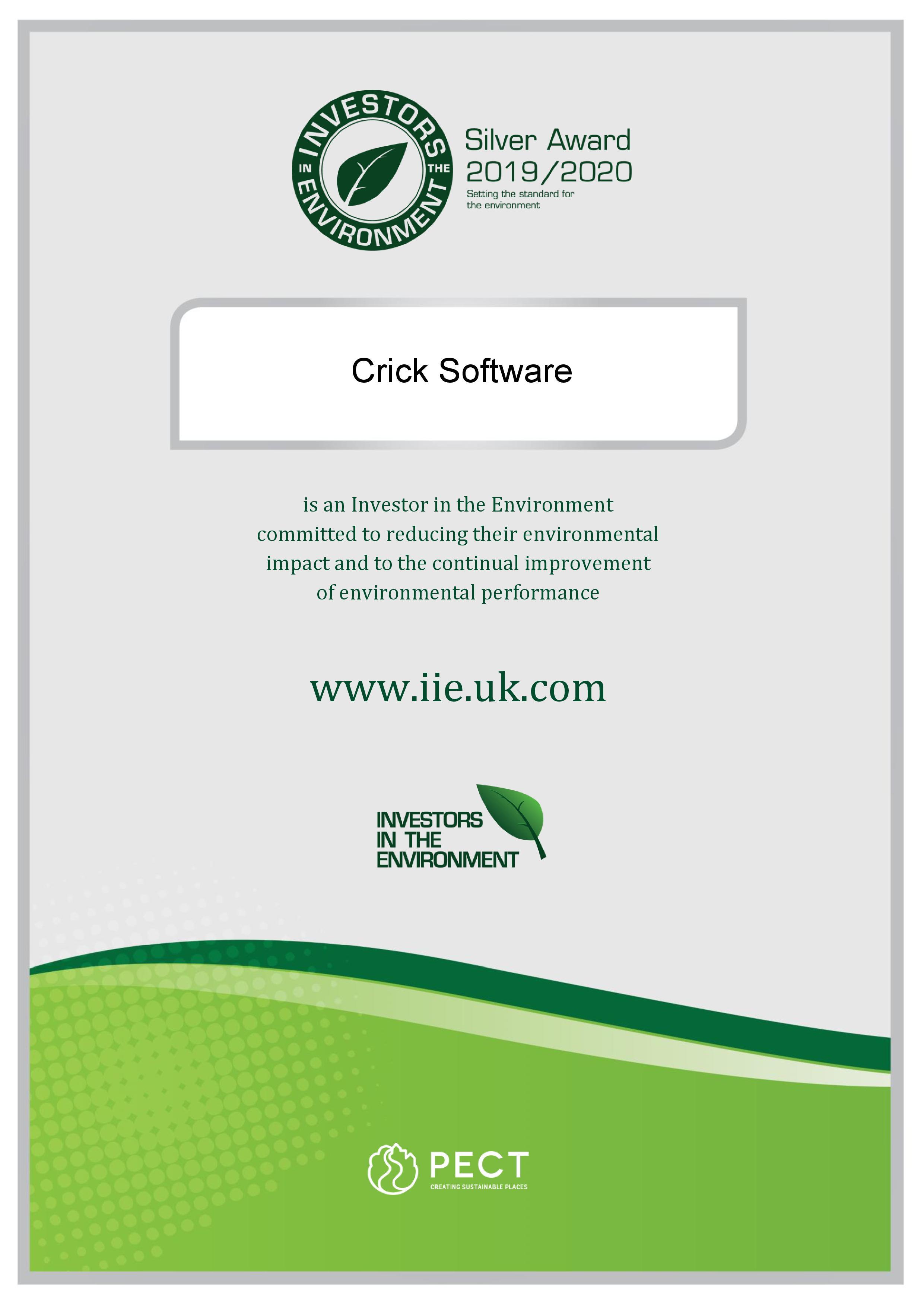 Silver Award certificate 2019-20
