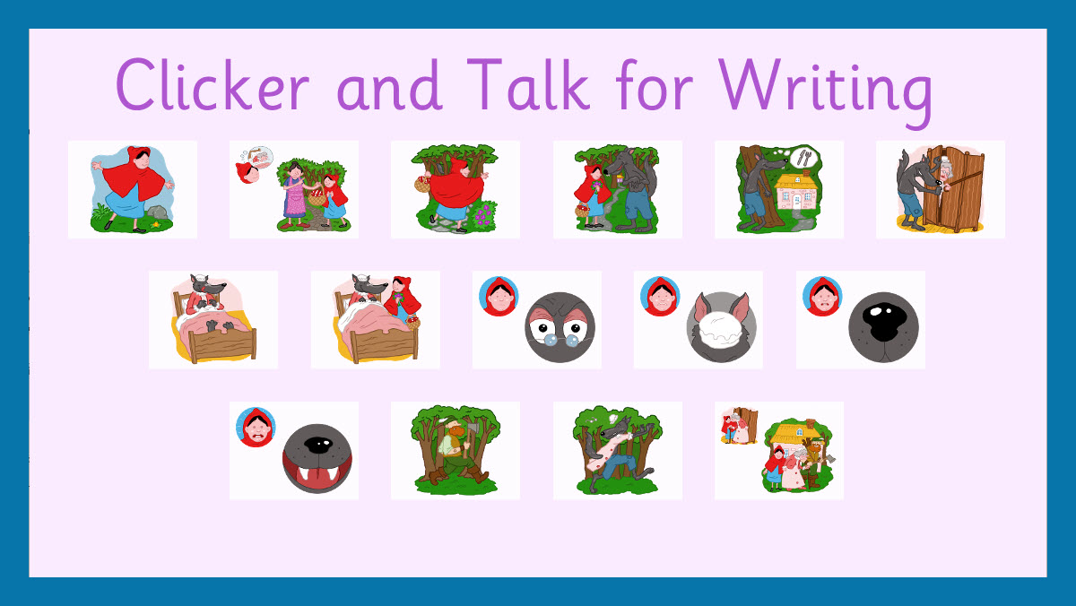 Clicker talk for writing header