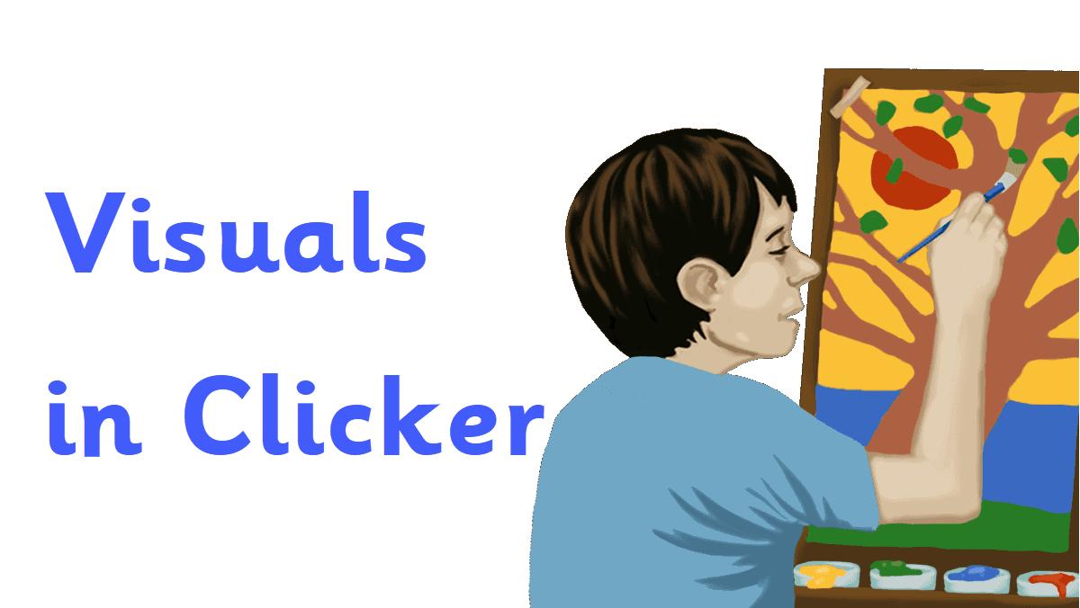 Visuals in Clicker header