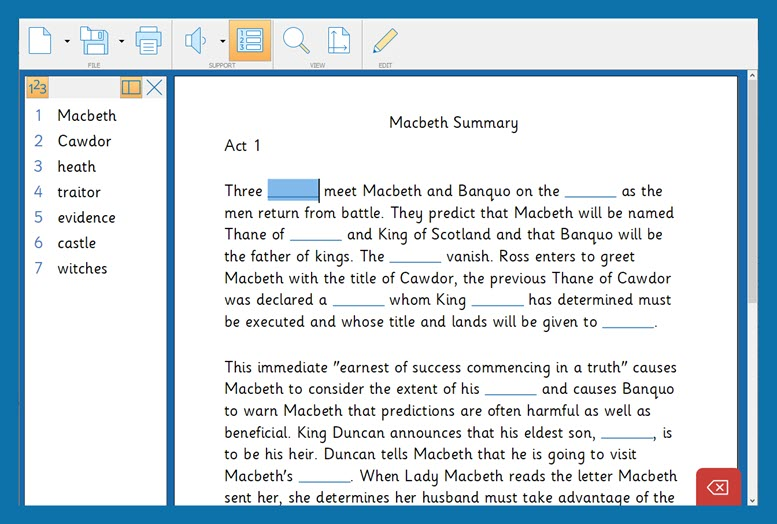 Macbeth 8 - Cloze Document