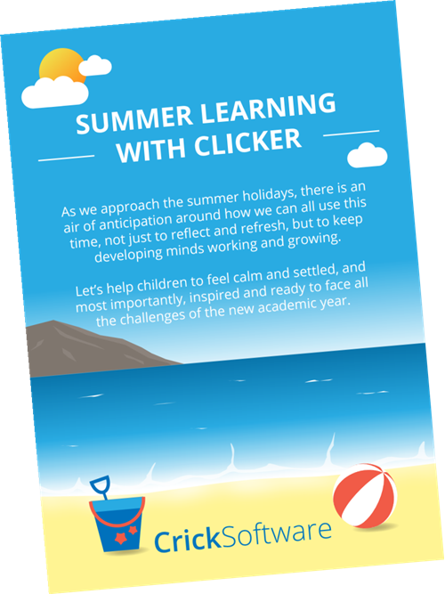Summer learning with Clicker infographic