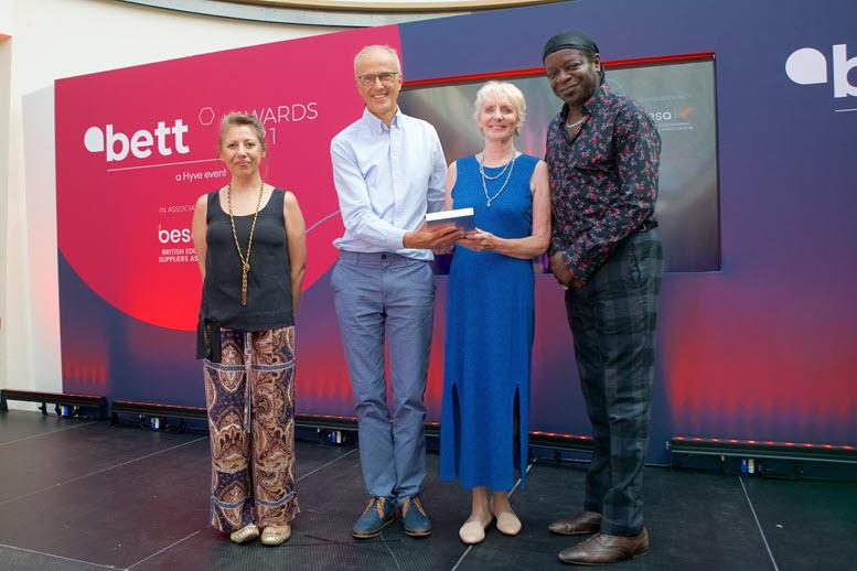 John and Ann Crick with Bett Award