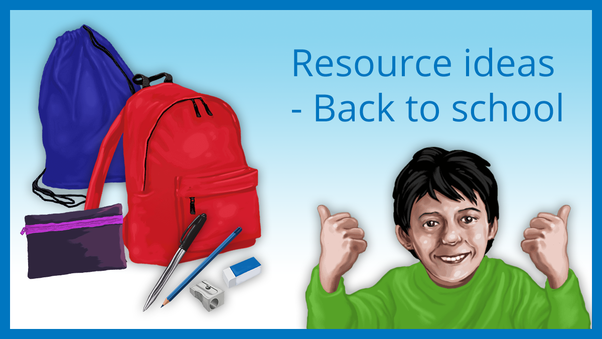 Resource ideas - Back to school