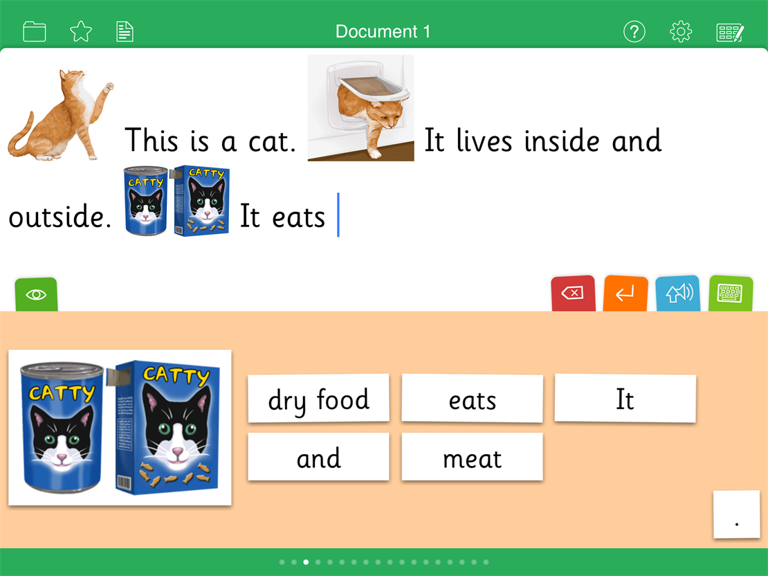 Build sentences the Clicker way