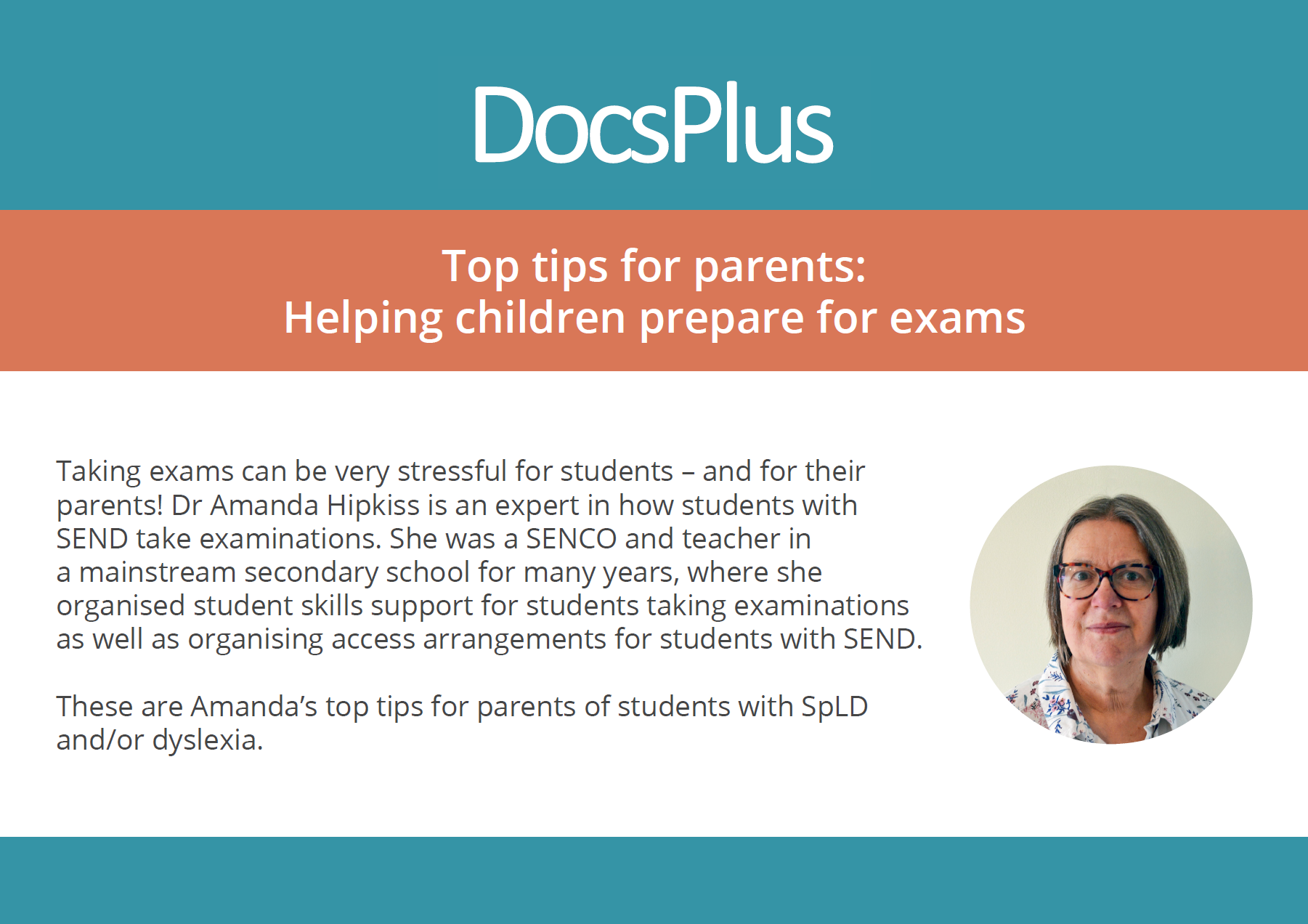 Top tips for parents - helping children prepare for exams